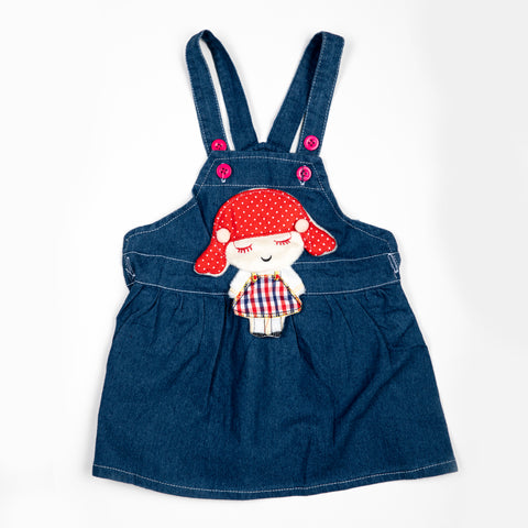 Denim Dungaree with doll patch work