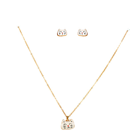 Cattie Chain Pendant Set