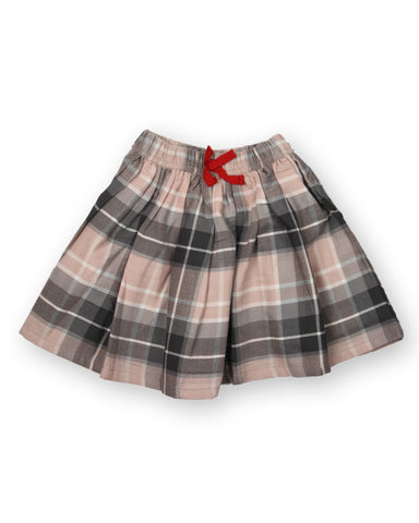 Yd Checks printed skirt