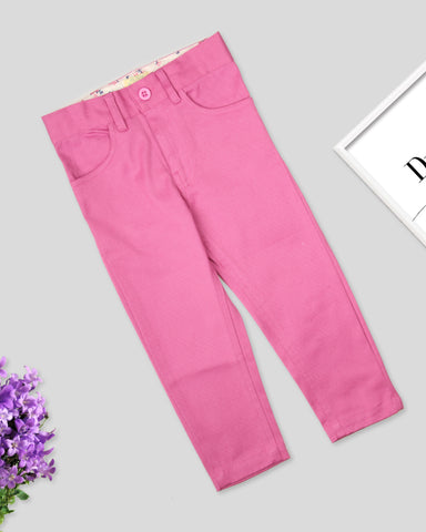 Purple color girls twill pant