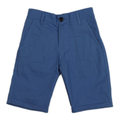 Royal blue solid woven shorts