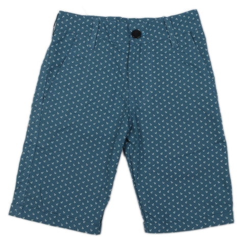 Anchor printed boys woven shorts