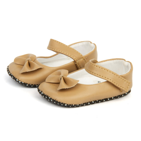 Beige PU Prewalker shoes