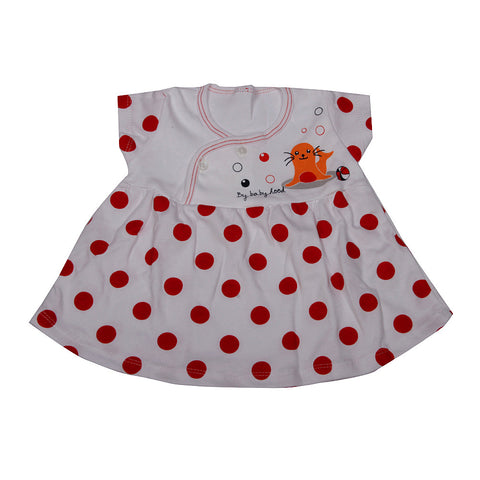 Happy Seal Baby Frock - Red