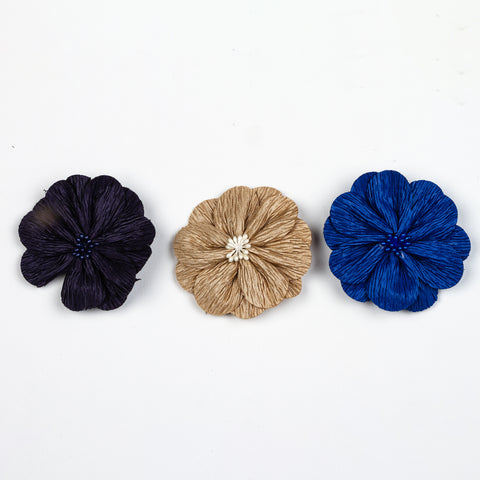 3 Pack Flower Hairclip
