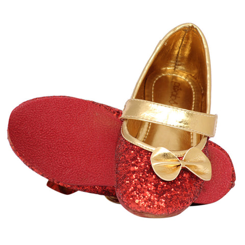 Pikaboo Essentials Red Sparkly Toddler Ballet Shoes