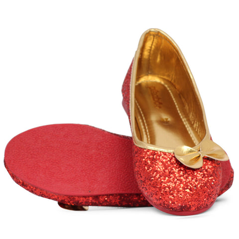 Pikaboo Essentials Red Sparkly Dress Shoes