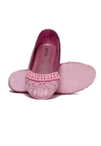 Pikaboo Essentials Baby Pink Pearly Ballerina Shoes
