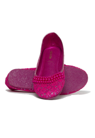 Pikaboo Essentials Fucshia Pearly Ballerina Shoes