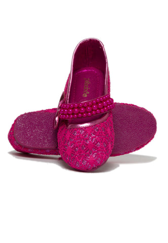 Pikaboo Essentials Fuchsia Pearly Mary Janes