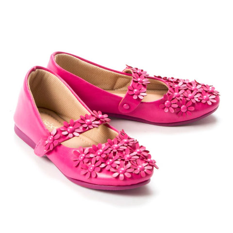 Flowery Feet Fuchsia Mary Jane Shoes