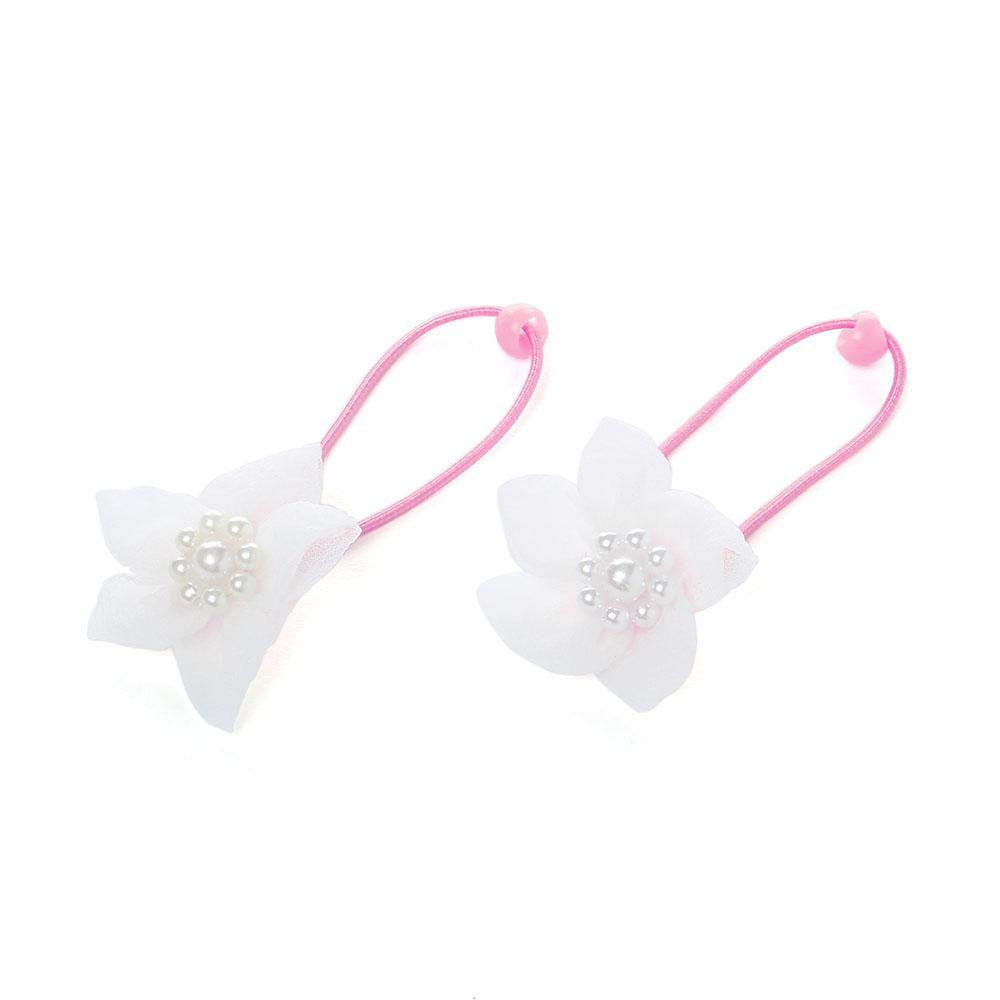 Elegant flower rope bands - White