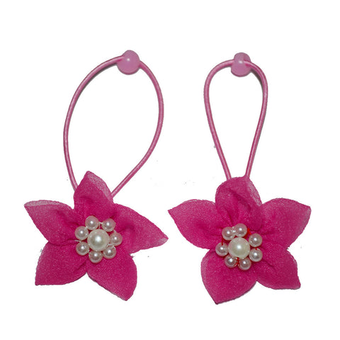 Elegant flower rope bands - Fuchsia