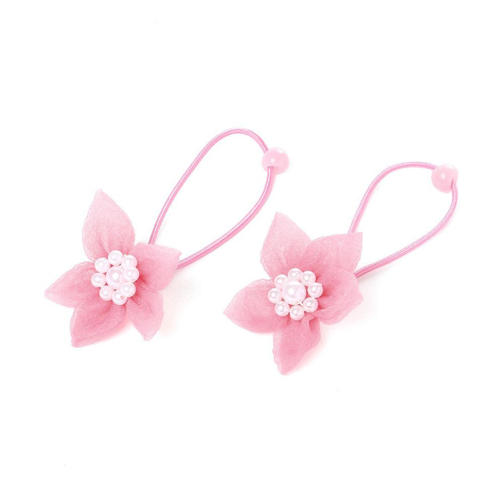 Elegant flower rope bands - Pretty Pink