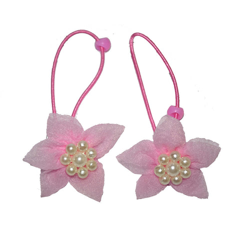 Elegant flower rope bands - Baby Pink