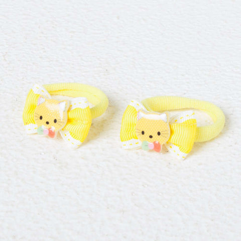 Kitten Face Rope Bands - Yellow