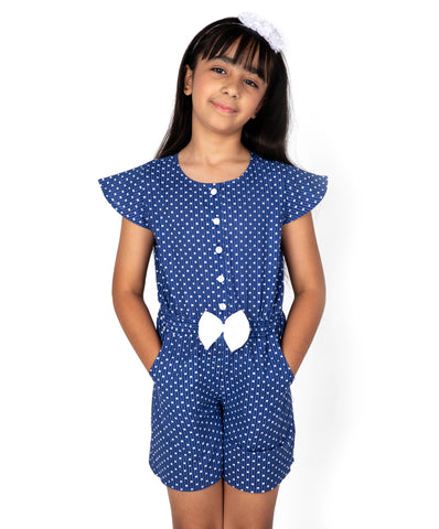 Polka Dots Print Playsuit