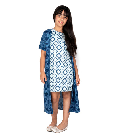 Indian Twist A-line Dress with Shrug