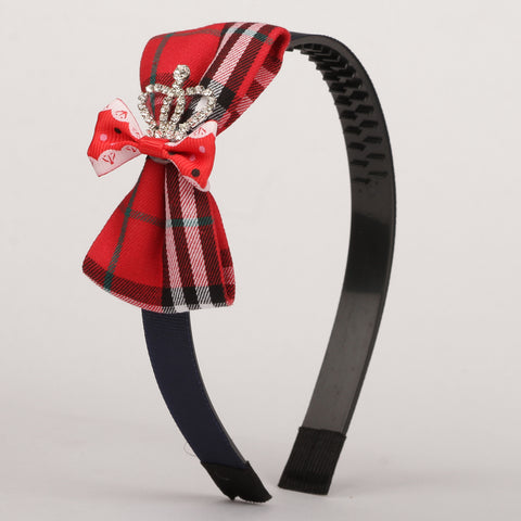 Classy Crown Hairband - Red