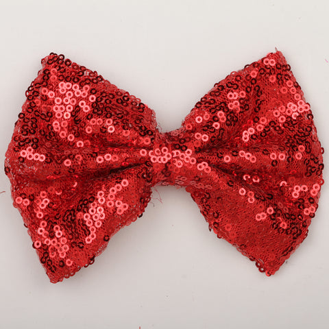 Big Sequin Bow Clip - Red