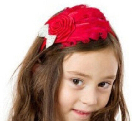 Luxurious Red Feather Headband