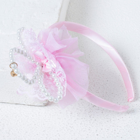 Pearly Crown Hairband - Pink
