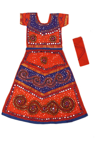 Blue orange Girls Chaniya Choli