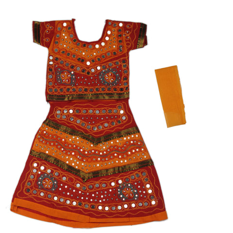Orange Girls Chaniya Choli