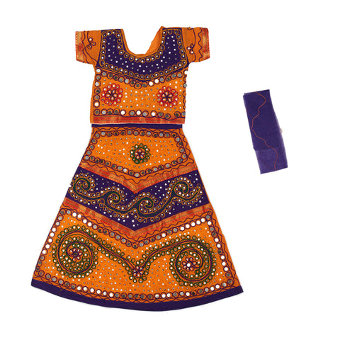 Orange Purple Girls Chaniya Choli