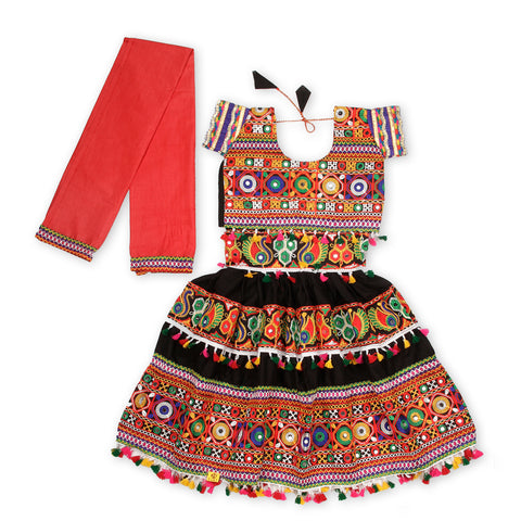 Black Kutchi Embroidery Chaniya Choli