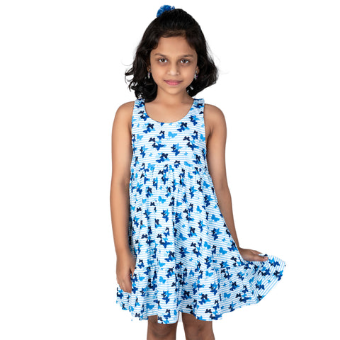 Butterfly Printed Sleeveless frock