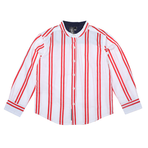 Red Stripes Boys Shirt