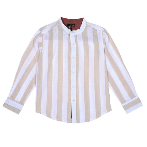 Cream AOP Boys Shirt