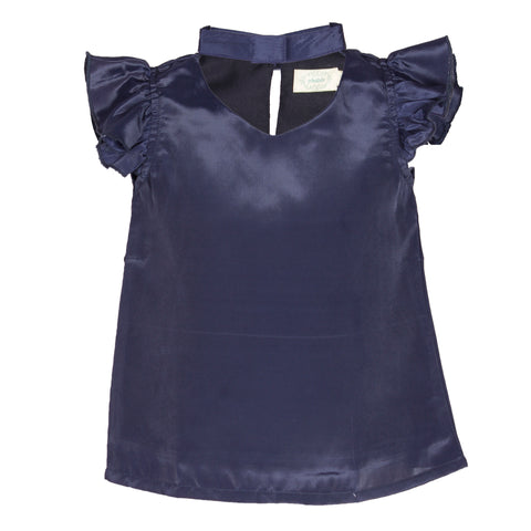 Navy Wing Casual Top