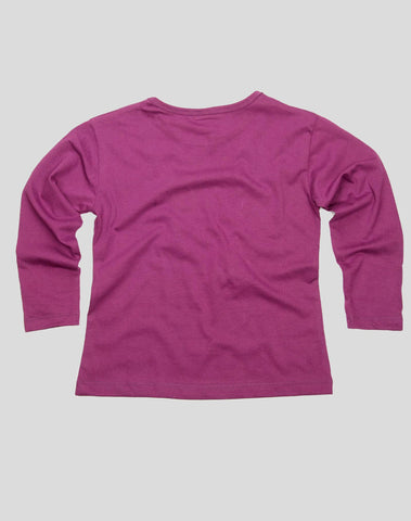 Girls Full Sleeve T shirt - Purple