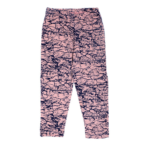 Abstract print Peach comfy fit legging