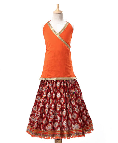 Halter Choli with Jaipuri Lehenga