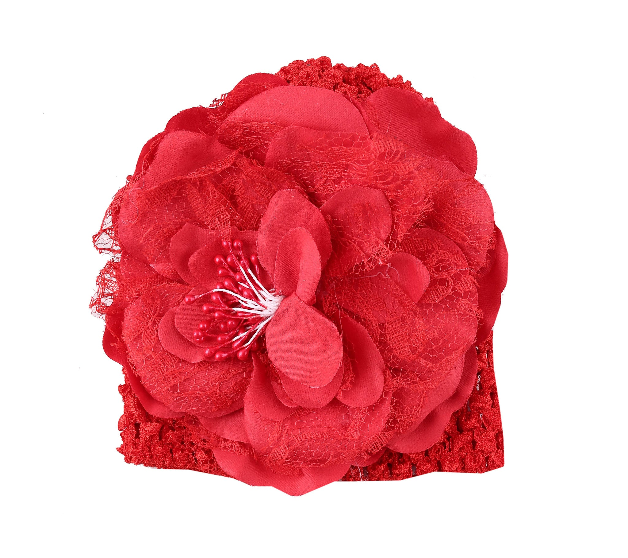 bcece058f1e Check COD Availability. Check. Red Peony flower crochet baby cap ...
