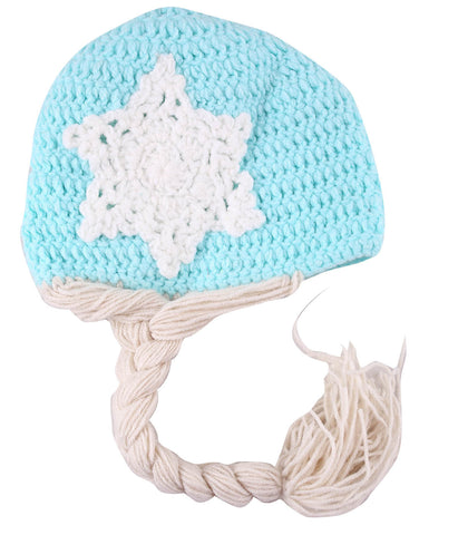 Snow Queen Braided Woollen Cap