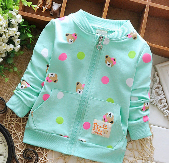 Sweet teddy cotton Jacket - Light Green