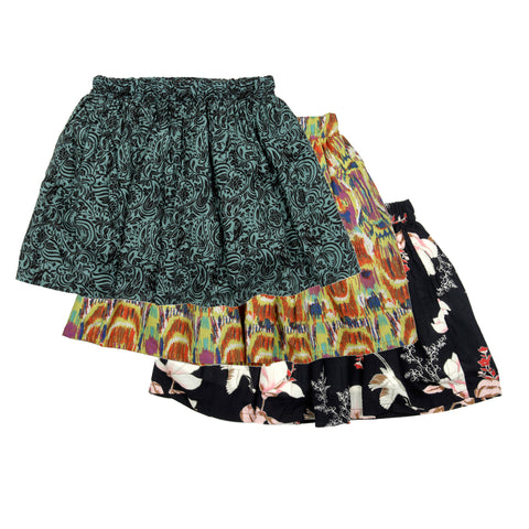 3 Pack printed skirt - Yellow, Green & Black