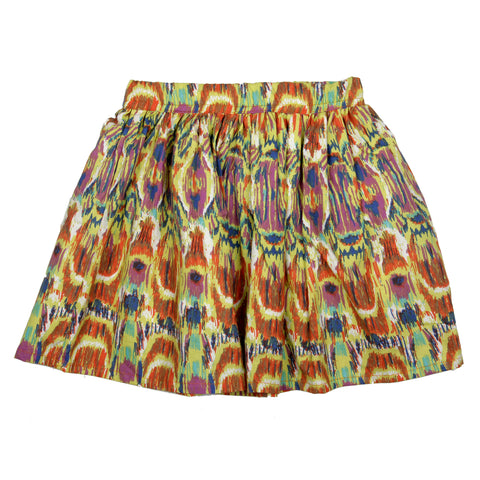 Ikat printed skirt