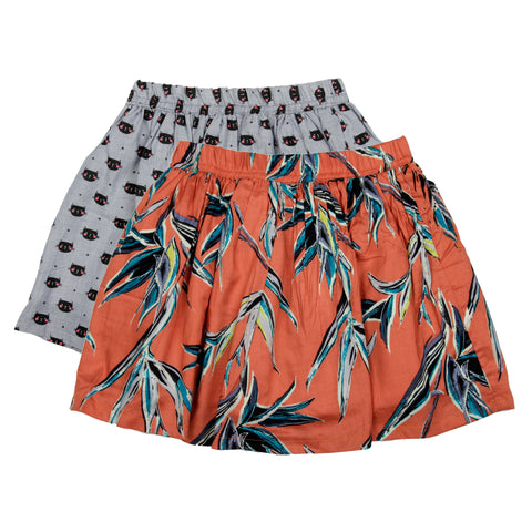 2 Pack printed skirt - Blue & Orange