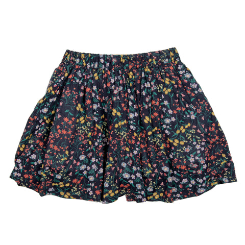 Blue base floral printed skirt