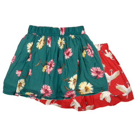 2 Pack printed skirt - Red & Green