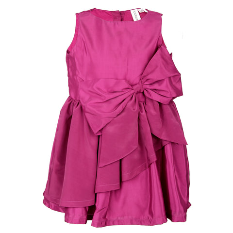 Crepe bow dress - Purple