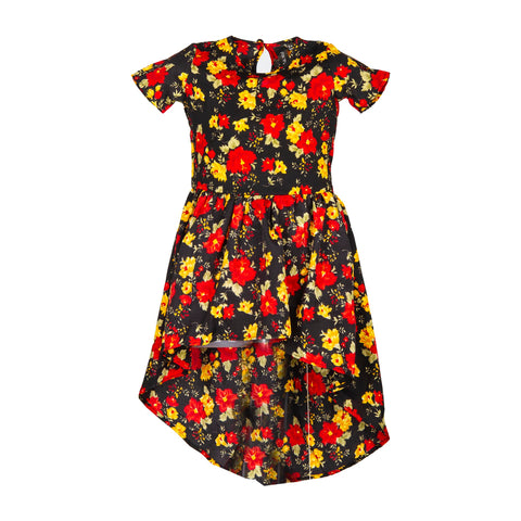 Black Floral girls dress