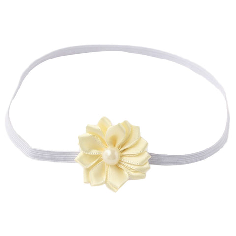 Simple flower headband - Cream