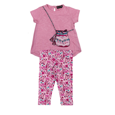 Purse Applique Pyjama Set