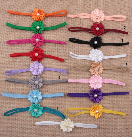 Simple flower headbands water